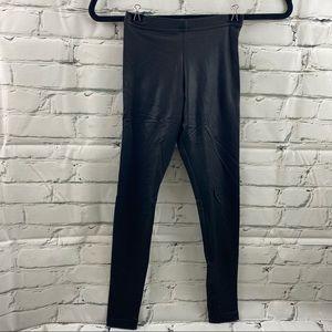 American apparel leather look girls leggings